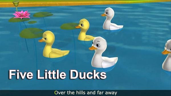 Bài hát Five Little Duck vui nhộn