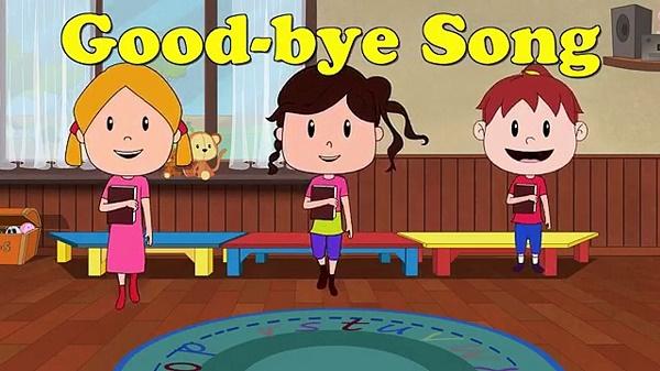 Bài hát Goodbye Song giúp bé biết nói tạm biệt