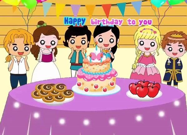 Bài hát Happy Birthday quen thuộc với các bé
