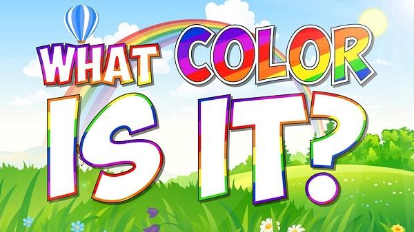 What Color Is It là bài hát về màu sắc rất hay