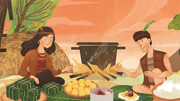Ý nghĩa của bánh chưng bánh dày trong ngày Tết được thể hiện qua phim hoạt hình cổ tích Bánh Chưng Bánh Dày