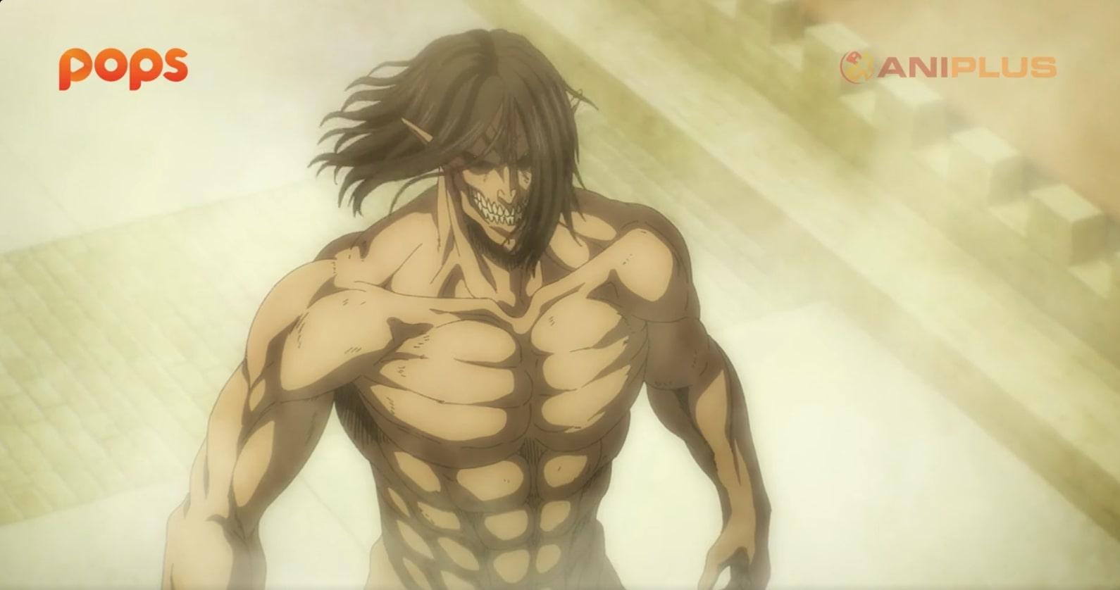 Eren trong tập cuối Attack On Titan mùa 4 phần 1