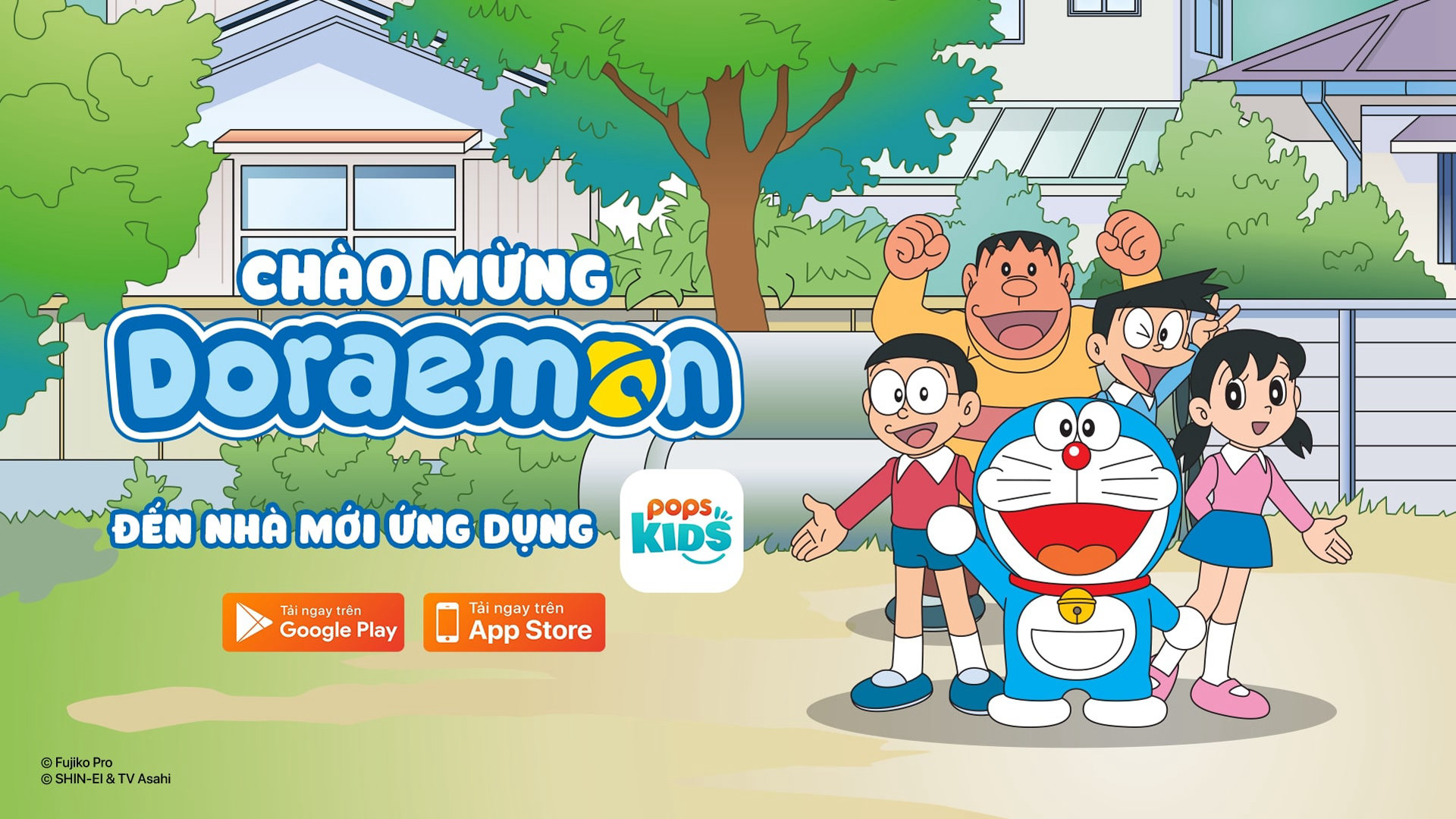 Doraemon dời nhà sang POPS Kids