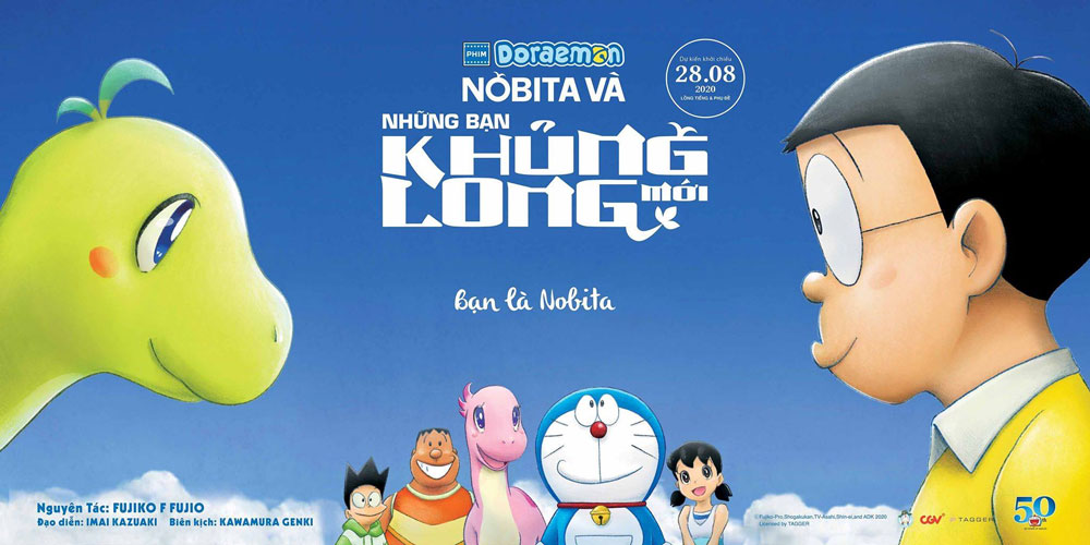 Nobita và những người bạn khủng long mới - bộ phim Doraemon tập dài mới nhất 2020 tiếng Việt