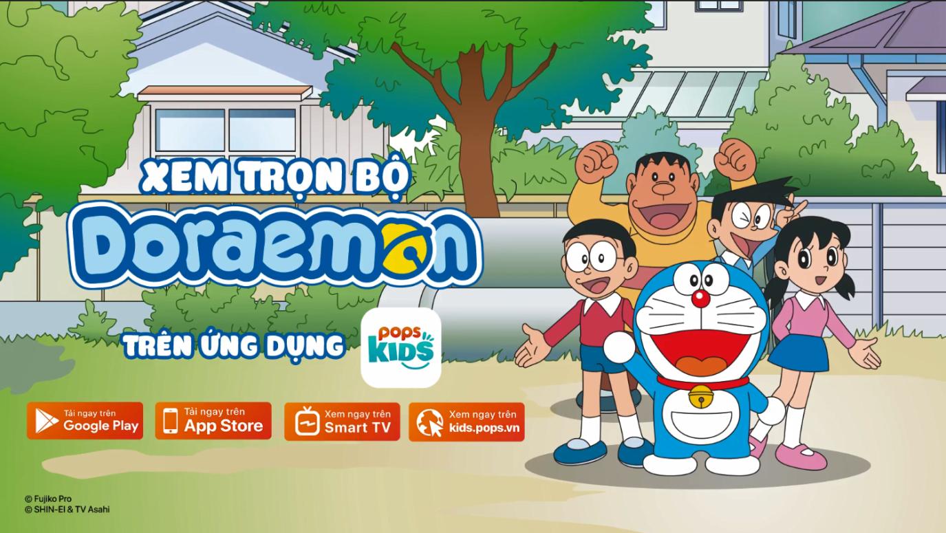 Vì sao nên xem Doraemon trên ứng dụng POPS Kids