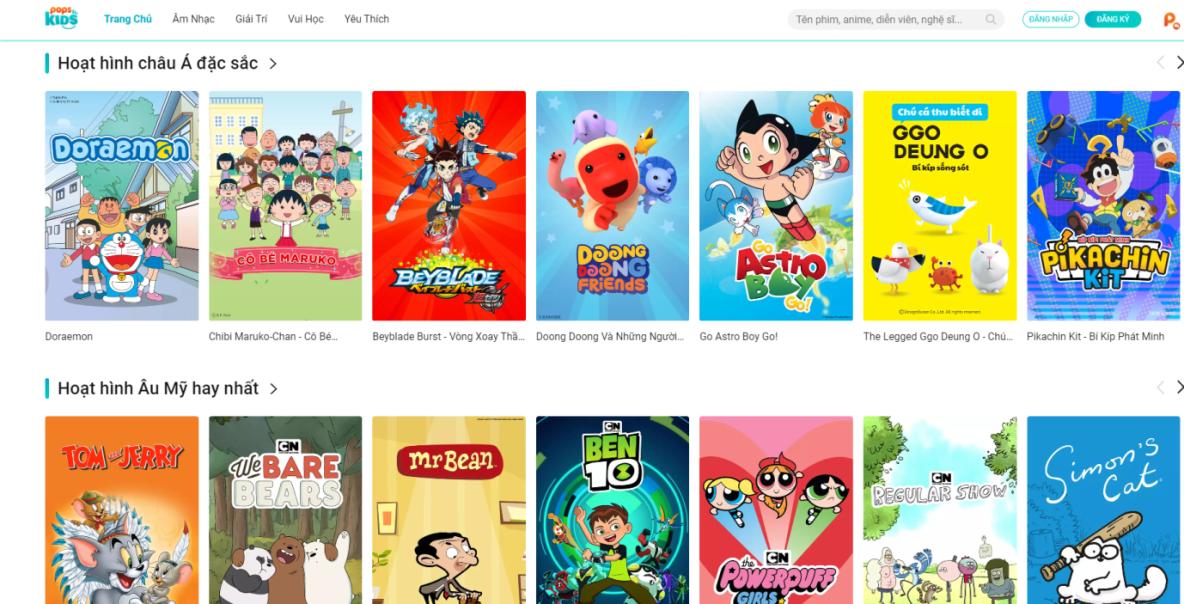 Doraemon long tieng online POPS Kids