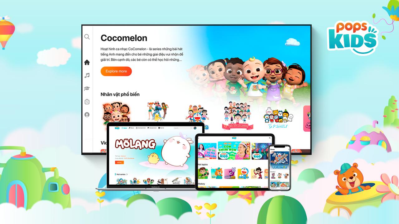 Ra mắt website giải trí dành cho thiếu nhi POPS Kids