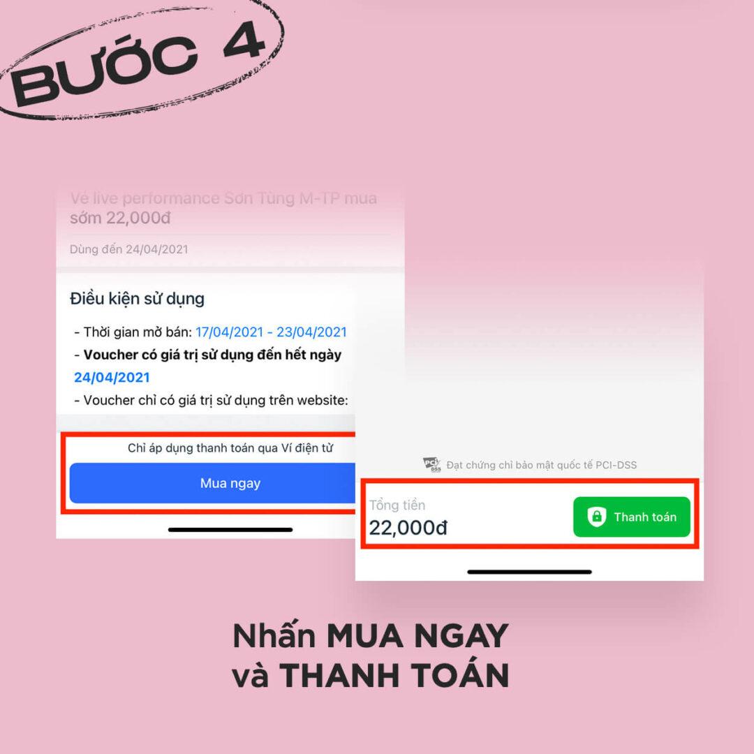 Thanh toán trên VinID để mua vé xem live Giật Mình Lần 1 - Sơn Tùng M-TP