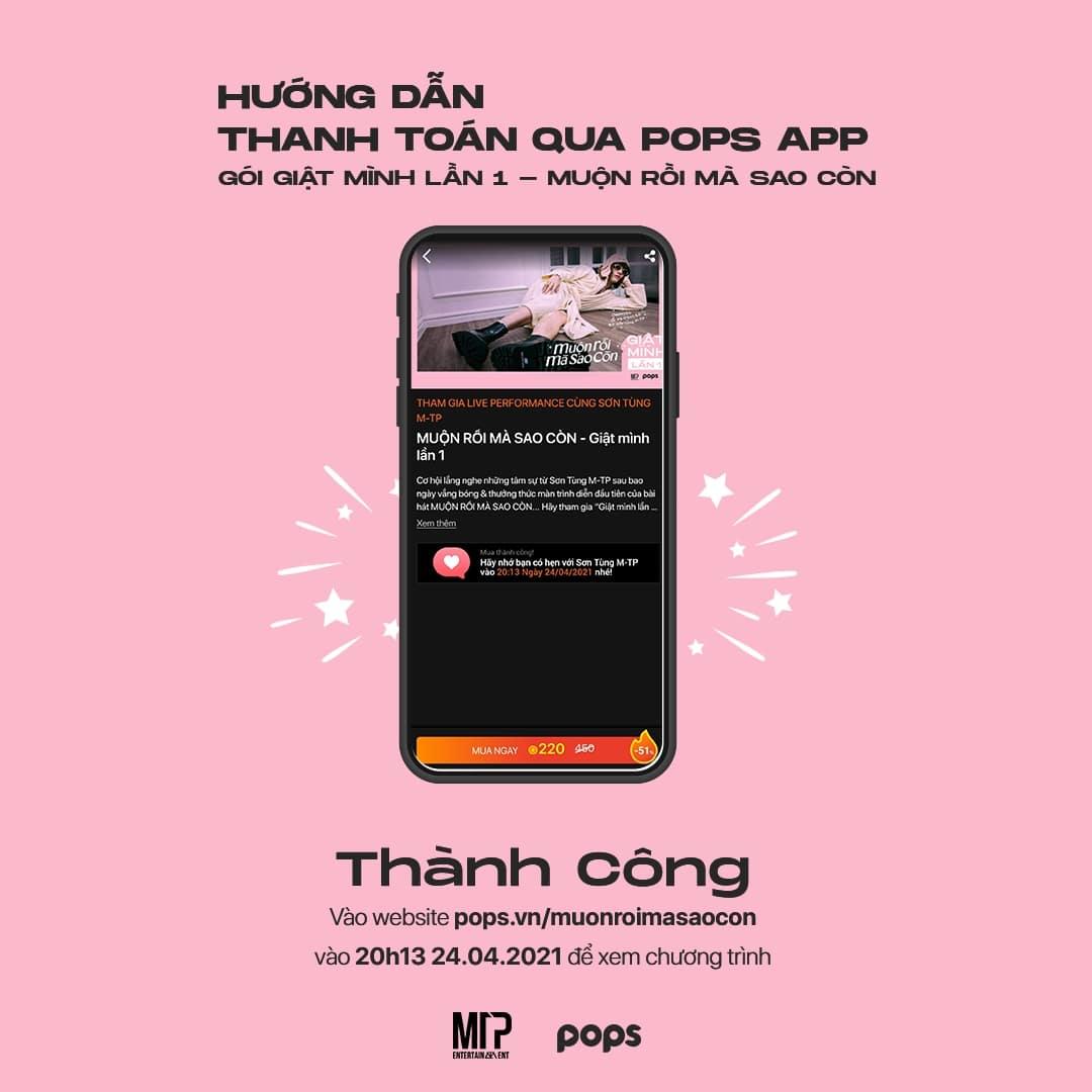 cách mua vé live perfomance Sơn Tùng MTP