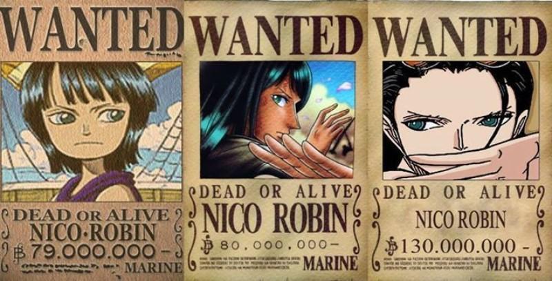 tiền truy nã của Robin One Piece